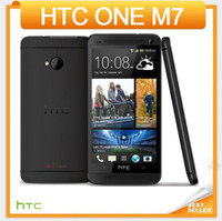 Wholesale Phone Quad Core One - Original HTC ONE M7 801e Unlocked Mobile phone Quad-core 4.7''TouchScreen Android GPS WIFI 2GB RAM 16GB 32GB ROM cellphone Free Shiping