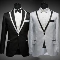 Wholesale long tuxedo dresses prom - 2016 New Arrival Men suit Men Dress Suit Men Suits Slim Blazers Tuxedo Groom Sequin Prom Sequined Wedding Dress