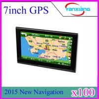7 Zoll schlankes GPS Navigationssystem Bluetooth + FM + AV IN MAP + eingebaut 4GB ZY-DH-03