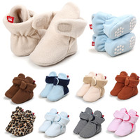 Wholesale tape baby for sale - Group buy Newborn shoes Baby infants Boots Taped Winter Warm fleece Ankle boots Soft first walker months
