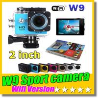 Wholesale mini dv hdmi resale online - SJ4000 Style Wifi Version W9 Inch Screen HD Action Camera Mini DV M Waterproof Extreme Sport Camera HDMI P