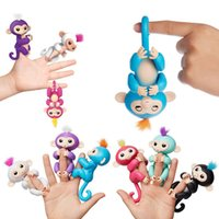 Wholesale Interactive Kid - 2017 Fingerlings Baby Monkey Smart Touch Fingerling Interactive Monkey ABS+PVC Fun Kids Toy Finger Toys adorable Fingerling Monkey Toy