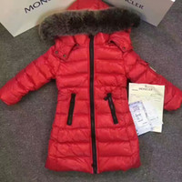 Wholesale Children S Winter Hats Girls - 2017 Fashion Girl winter down Jackets Children Coats warm baby 100% thick Goose Down Kids Outerwears for cold -30 degree jacket FreeShipping