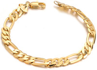 Wholesale Men K Gold Bracelets - 18 k gold filled the man bracelet, factory direct sale,wholesale bracelet