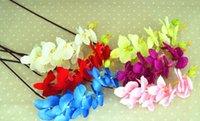 ingrosso orchidea-Scrittorio da tavolo della casa della festa nuziale della stuoia dei fiori dell'orchidea della farfalla di seta artificiale calda di modo