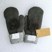 Wholesale Nice Thick - Hot Sale Women's Winter Make By Hand Mitten Gloves Thick Warm Gloves Fur Wool Gloves, Hand Wrist glove Nice six Colors free shipping