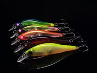 Wholesale slender lure online - 5 Color Mix Slender Shape Lure Minnow Bait Fishing Lure Plastic Hard Bait Casting Spinner Bait Fishing Tackle with Removable Steel Balls