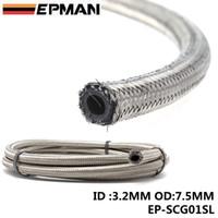Wholesale Wholesale Racing Fuel - EPMAN 50M Braided Stainless Steel Brake Fuel Line Hose Rubber Core For Handbrake Hose Track Drift Racing EP-SCG01SL