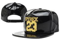 Wholesale Pyrex Floral - 2015 hot New PYREX 23 Leather hats snap back caps Snapbacks Ball hats,Cheap Purple adjustable baseball men women sports fashion Football Hat