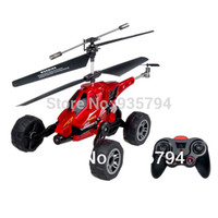 Wholesale Helicopter Landing - Wholesale-FREE SHIPPING High Quality Land And Air Amphibious UDI U821 (3 in I) 3.5 Channel Infrared RC Helicopter