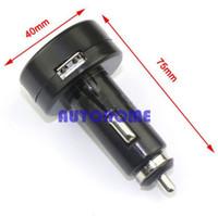 Wholesale 12v Car Voltmeter - 1 X Universal 2 In 1 12V 24V Digital Voltmeter Car Cigarette Lighter Usb Charger order<$18no track