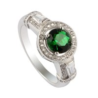 Wholesale wholesale 925 sterling silver reviews for sale - Shinning Punk Rave reviews Noble Generous S sz Charm Dark green Cubic Zirconia Favourite sterling silver for women Rings