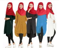 Wholesale casual clothes online - M XL Autumn Abaya Dubai Online Women Lady Muslim Loose Shirt Dress Maxi Short Dress Kaftan Clothes Abaya Jilbab