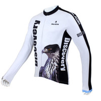 Wholesale Discovery Cycling Jersey Long Sleeves - Wholesale-2015 New Discovery Long Sleeve Men Cycling Jerseys Eagle Bicycle Sport Clothing Bike Top Shirt Jacket White Free Shipping