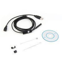 Wholesale Endoscope Borescope Camera - 1.5m 7mm Lens Rigid Cable USB Inspection Mini Camera Tube Snake IP67 Waterproof Endoscope with LED Borescope for Android Phone