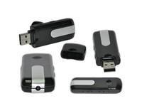 Wholesale Cam U8 - Mini camera DVR U8 Mini camcorder USB Disk Spy Cameras DVR Motion Detect Camera Cam Hidden Camera vedio recorder listening device