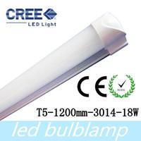 Wholesale Led Tube Housing - CREE 18W T5 LED Tube Light Lamp 1200mm Pure White 85-265V AC 1800lm Aluminum Housing Free Shipping+25pcs lot