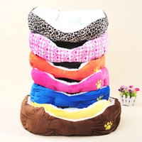 Wholesale New Small Dog Beds Fleece Cotton Pet Dog Cat Kennel Puppy Dog Cat Mat Pads Indoor Warm House