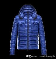 Wholesale Fashion Brands Online - Fashion Winter Down Jacket Men Warm Brand Designer Monclair Thick Mon Hooded Jackets for Man Anorak Plus Size Cool Coats Online