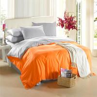 Wholesale Grey Orange Duvet - Orange silver grey bedding set King size queen quilt doona duvet cover designer double bed sheet bedspread bedsheet linen cotton 20 color