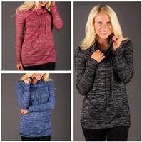Wholesale Loose Neck Turtleneck - 2015 High quality New Winter Autumn Loose high-necked cotton Jacket Plus Size Long sleeve Sweatshirt Hoodies FG1511