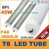 Wholesale T8 Led Lamp Dimmable - Dimmable LED Tube T8 45W 8ft 2400mm Single pin FA8 2.4m LED fluorescent tube lamp SMD2835 AC85-265V CE RoHS FCC UL 100 lot