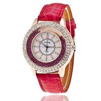 Wholesale Gogoey Quartz - New Quartz Watch Women Gogoey Brand Luxury Leather Watches Ladies Popular Casual Fashion Gold Watch relogios femininos