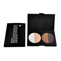 Wholesale cosmetic logos online - 4 Color Pressed Powder Trimming Powder Oil Control Concealer Makeup Powder Cosmetic Highlighter Shadow Powder NO LOGO
