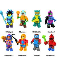 Wholesale Evil Toys - Building Blocks Minifigures Action Bricks HE-Man MASTERS of the Universe EVIL-Lyn Duncan Beastman Trap Jaw Kids Toys 8pcs set PG8094