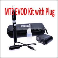 Wholesale mini ce5 cigarette electronics resale online - Mt3 Kits MT3 Atomizer mah mah mah EVOD Battery for Electronic Cigarette with Plug Colorful Kits as CE4 CE5 Mini Protank Vision Kit