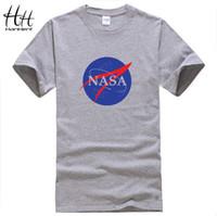 Wholesale Men V Neck Tshirts - WishCart HanHent T-shirt Mens New Summer Printed Cotton t shirt Designer Casual Fitness Men's Fashion Clothing Tops Tees tshirts brands