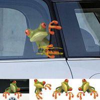 kurbağa araba çıkartmaları toptan satış-Araba 3D Peep Kurbağa Komik Araba Çıkartmaları Kamyon Pencere Çıkartması Grafik Sticker Araba Styling Sticker