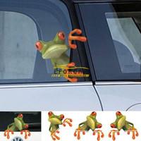 rana pegatinas de coches al por mayor-Coche 3D Peep Frog Pegatinas divertidas del coche Camión Ventana Calcomanía Gráficos Pegatina Car Styling Sticker