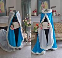 Wholesale cheap white faux fur cloaks - Cheap 2018 Stunning Bridal Capes Wedding Cloaks Faux Fur Perfect For Winter Wedding Bridal Cloaks Cape Wedding Cape