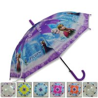Wholesale Frozen Umbrella Frozen Princess Elsa Anna Olaf Rain and Sun Proof Children Umbrella cm Frozen Series