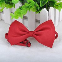 Wholesale Personalize Clothing - 9 Colors Cute Lovely Pet Dog Bowknot Tie Bow Necktie Collar, Pet Clothing Dog Cat Puppy, Free Shipping Dropship Y52*MPJ141#M5