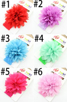 Wholesale Colorful Headpiece - Cheapest 3.5cm*40cm Infant Headpieces Colorful fLOWER Baby LittleToddler Colorful 9 cm Flowet Hair Accessories 2015Cute Kids Hair Ribbons