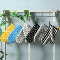 Wholesale Silicone Microwave Oven Gloves - Microwave Oven Gloves Insulation Oven Cotton And Linen Baking Gloves Mitts Non-Slip Kitchen BBQ Cooking Gloves Bakeware Cake Tool DH12