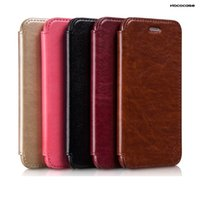 Wholesale Hoco Leather Iphone Cases - HOCO uncommon attractive classic Olde PU leather flip cellphone cases mobile cover case for iPhone 5 5s iPhone 4.7 5.5 inch