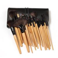 kozmetik fırça 24'lü set toptan satış-Yüksek kalite 24 Adet Profesyonel Makyaj Fırçalar makyaj perakende kozmetik durumda Kozmetik Fırça Seti Kiti Aracı