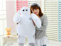 Wholesale White Robot Toy - Hot sale 12inch 30cm Big Hero 6 Baymax Robot Hands Moveable Stuffed Plush Animals Toys Gfit for kids Free Shipping