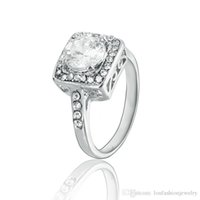 Wholesale Gemstone Alloy Jewellery - Fashion Silver Jewellery Rings 925 Sterling and Rose Gold Plated Zircon Ring Gemstone Jewelry Crystal Zircon Ring Jewelry For Women ZR091-1
