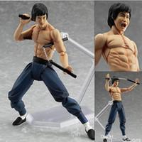 Wholesale Figures Manga - Manga Garage Kit Anime Assassin Hero Bruce Lee PVC Action Figure Collectible Model Doll Toy 14.5 Cm Figma Legend Of The Dragon