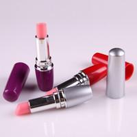 Wholesale lipstick vibrator for female - 100pcs lot lipstick toy vibrator for women Mini vibrator, Vibrating eggs, Adult Toys purple,pink,black, red,silver DHL free