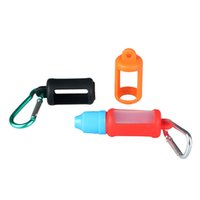 Wholesale E Liquid Keychain - Newest E-liquid Bottle Carrying Case Silicone Flask Case Cover for E-liquid Esstential Oil with Keychain for Outdoor Sports