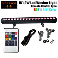 Controle Remoto 18X10W LED Wall Washer RGBW 4in1 Indoor Wireless Washer light Outdoor Party Disco levou luz CE Certificado