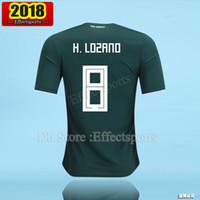 Wholesale G R - Thailand Camisa Mexico soccer jersey 2018 CHICHARITO R MARQUEZ G DOS SANTOS O PERALTA H.LOZANO world cup football shirt camisetas de futbol