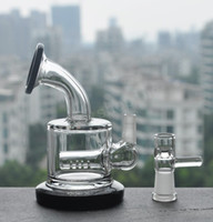 Wholesale Cheap Thick Glass - 2017 Cheap Small Rig Two Function Clear Mini Thick Heavy Glass Inline Percolator Water Pipe Oil Rig Bong free shipping