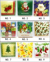 Wholesale Christmas Series Colored Paper Napkin Party Paper Virgin Wood Napkin X33CM Pack Pack