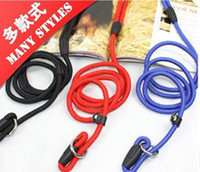 Wholesale Dog Leashes P Rope - Pet Dog training use p rope Collar Leash Strap 0.6*130